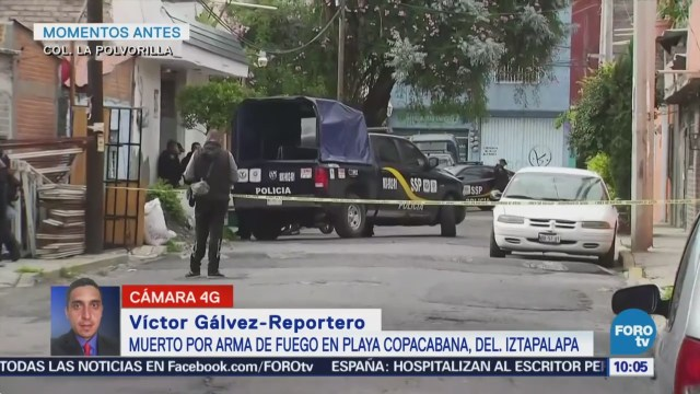 Reportan un muerto por arma de fuego en Iztapalapa