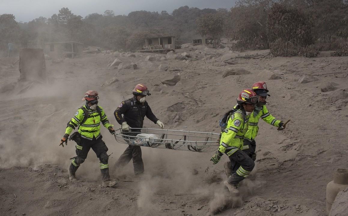 Guatemala búsqueda desaparecidos erupción Volcán de Fuego
