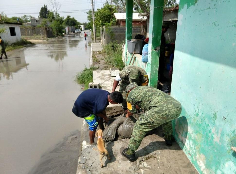 ejercito aplica plan dn iii fuertes lluvias reynosa tamaulipas