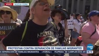 Protestan Contra Separación Familias Migrantes Eu