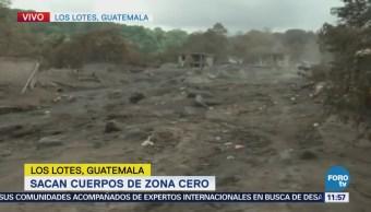 Sacan cuerpos de zona cero en Volcán de Fuego en Guatemala