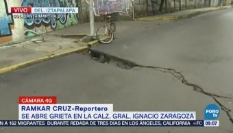 Se Abre Grieta Calzada Ignacio Zaragoza Cdmx