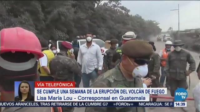 Cumple Semana Erupción Volcán Fuego Guatemala