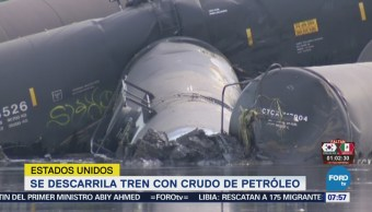 Descarrila Tren Transportaba Crudo Noroeste Iowa Eu