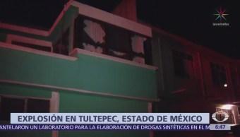 Se registra explosión de presunto taller de pirotecnia en Tultepec, Edomex