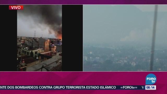 Registra Incendio Maderería Iztapalapa
