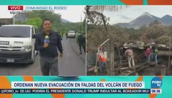 exhalación del Volcán de Fuego Guatemala