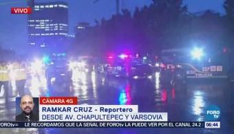 Se registran lluvias dispersas en la Ciudad de México