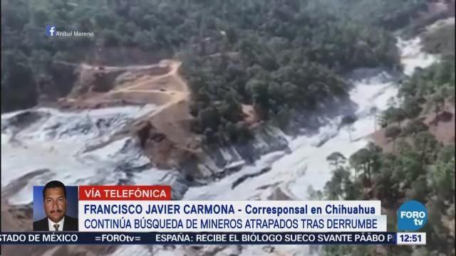 Sigue búsqueda de 7 mineros desaparecidos en mina de Chihuahua
