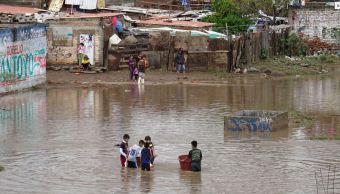 desalojan cien familias silao guanajuato inundaciones