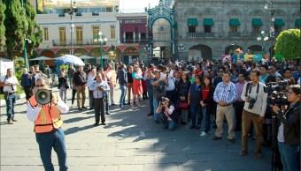 Realizan simulacro de sismo en Puebla
