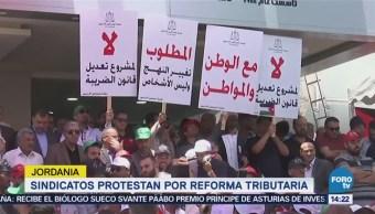 Sindicatos protestan por reforma tributaria en Jordania