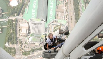 Detienen Spiderman francés piso 124 rascacielos surcoreano