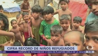 Suman 30 millones de menores que huyen de guerras en el mundo