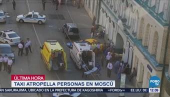 Taxista Atropella Multitud Peatones Moscú Rusia