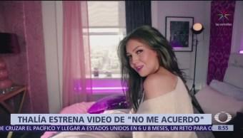 Thalía lanza video de su nuevo sencillo: 'No me acuerdo'
