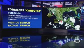 Tormenta 'Carlotta' Tocará Tierra Próximas Horas