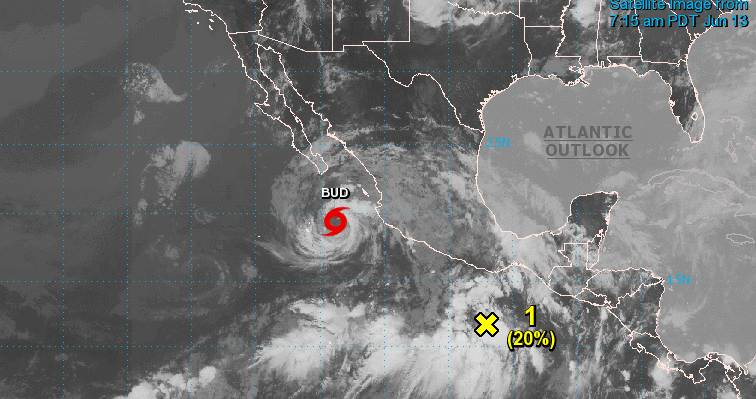 Tormenta tropical Bud provocará tormentas en Colima y Jalisco