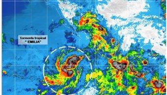 Depresión tropical se intensifica a tormenta tropical Emilia