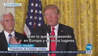 Trump Defiende Política Migratoria Separa Familias Frontera