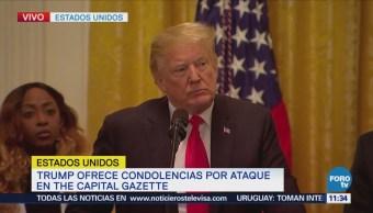 Trump ofrece condolencias por ataque al Capital