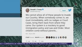 Trump pide deportaciones extrajudiciales, sin jueces ni tribunales