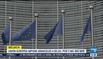 UE aplicará aranceles del 25 a bienes de Estados