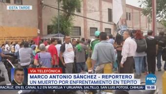 Muerto Enfrentamiento Tepito Balacera CDMX Agresión