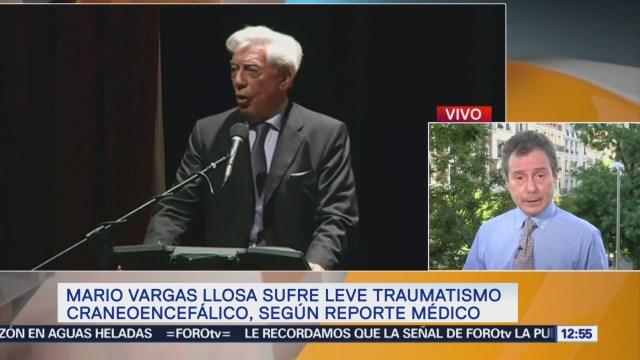 Vargas Llosa sufre traumatismo craneoencefálico, según reporte médico