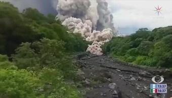 Vecinos de Escuintla Guatemala recuerdan erupción Volcán