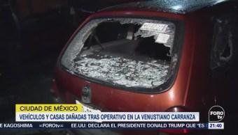 Vehículos Casas Dañadas Tras Operativo Cdmx