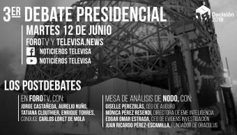 Ver tercer debate presidencial en vivo