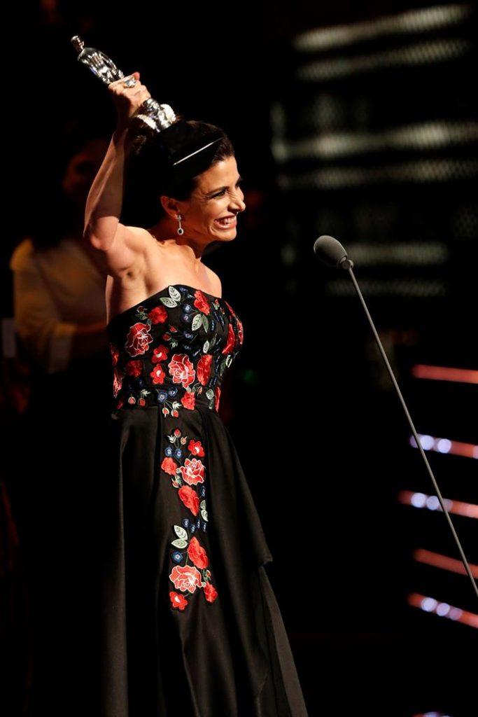 Verónica Toussaint fue premiada con el Ariel a Mejor Coactuación Femenina