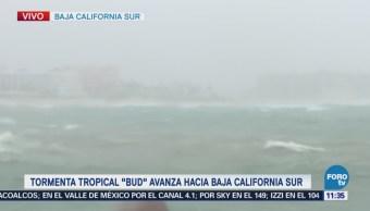 Viento y lluvia se intensifican ante el acercamiento de 'Bud' a BCS