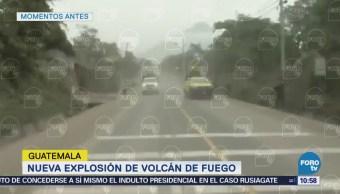 Volcán de Fuego en Guatemala registra nueva explosión