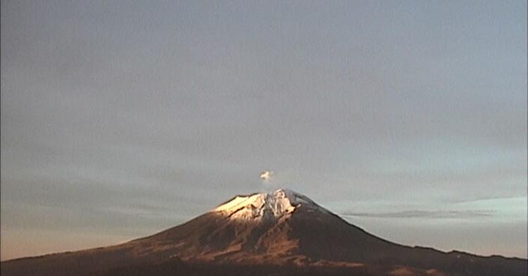 Detectan 31 exhalaciones de baja intensidad en Popocatépetl