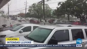 Yucatán y Quintana Roo registran lluvias intensas por fenómenos meteorológicos