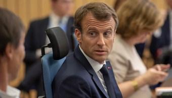 Presidente Macron registra baja popularidad tras 'caso Benal