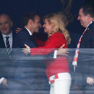 Presidentes de Francia y Croacia disfrutan juntos la final del Mundial