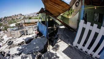 Colapsan nueve viviendas por falla geológica en Tijuana