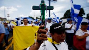 Marcha en Nicaragua para apoyar a obispos