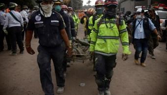 Identifican a 10 víctimas del Volcán de Fuego de Guatemala