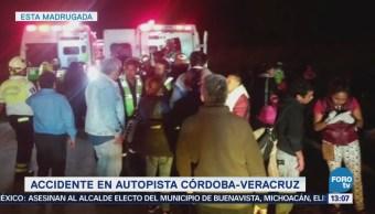 Accidente Autopista Córdoba Veracruz