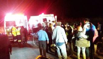 Volcadura autobús autopista Córdoba-Veracruz 34 heridos