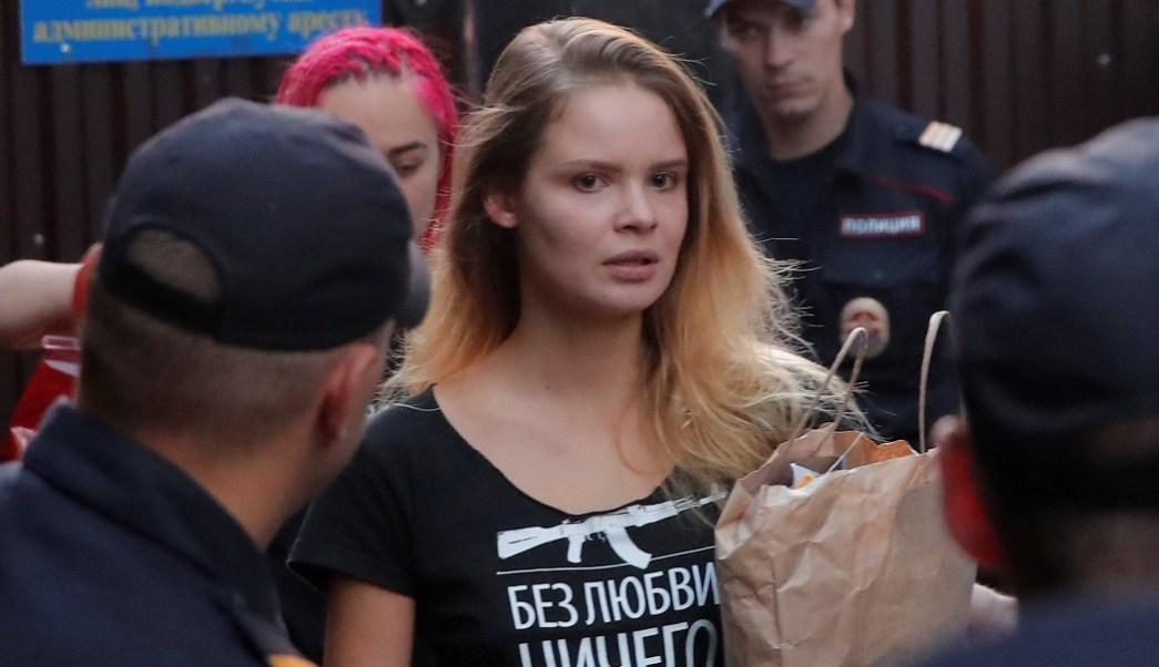 Activistas Pussy Riot son detenidas después Liberación