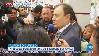 Alfonso Durazo anuncia capacitación para policías estatales