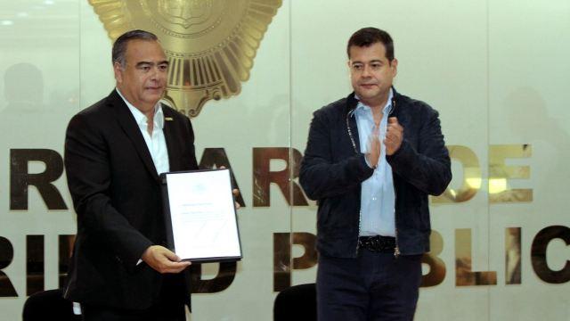 Amieva presenta a Raymundo Collins como nuevo secretario de la SSP-CDMX