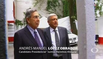 AMLO conversa con Cuauhtémoc Cárdenas previo