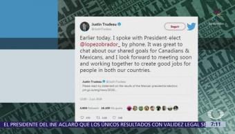 AMLO y Trudeau coinciden en actualizar el TLCAN