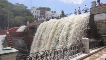 Celebran apertura de presa La Olla, en Guanajuato